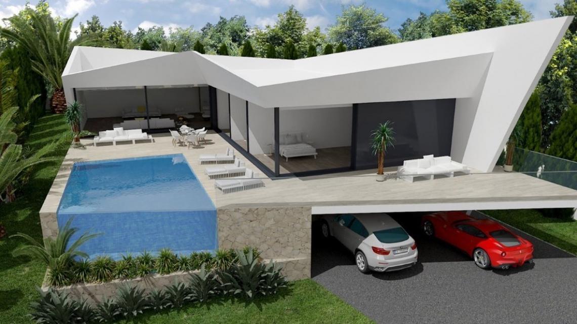 Villa moderna en construcción Benissa Costa
