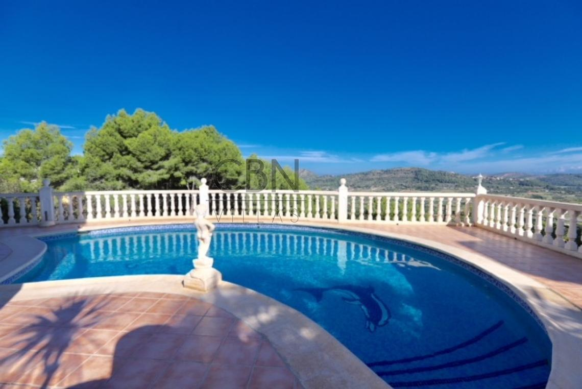 Villa con estupendas vistas en Monte Pedreguer
