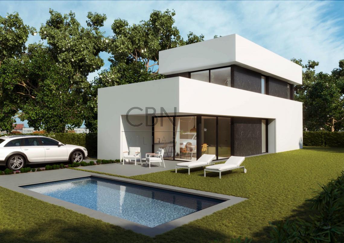 Villas de nueva construcción en Dénia con piscina independiente