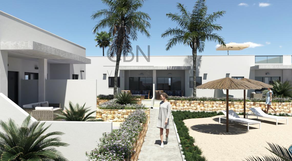 14 bungalows adosados modernos, de 2 y 3 dormitorios en El Vergel